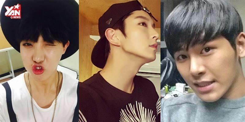 Bắt bài những kiểu selfie quen thuộc của mĩ nam Hàn