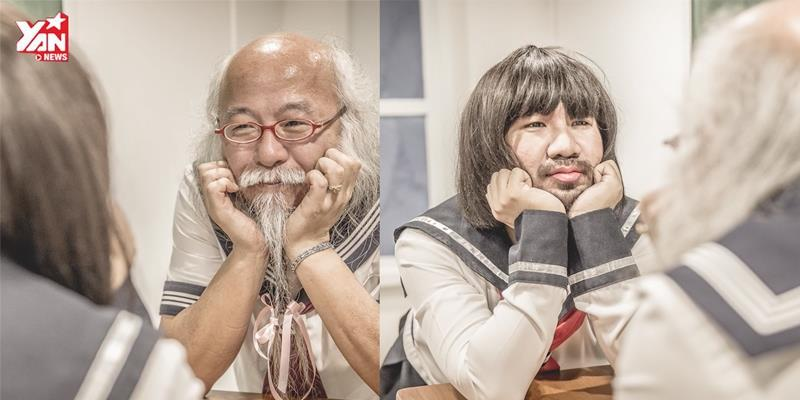 """Anh chàng Thái Lan thực hiện bộ ảnh mới cùng cụ ông """"nữ sinh Nhật Bản"""""""