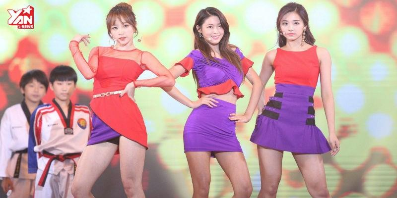 Cuối cùng 3 nữ thần Hani, Tzuyu, Seolhyun cũng đứng chung sân khấu