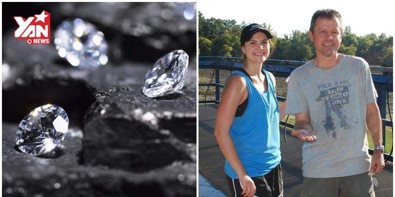 Bất ngờ đào được kim cương hàng trăm triệu khi đi chơi công viên