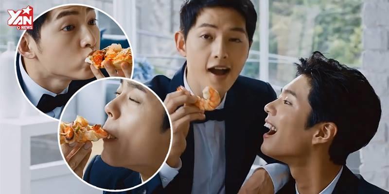 Park Bo Gum và Song Joong Ki cạnh tranh nhan sắc trong một quảng cáo
