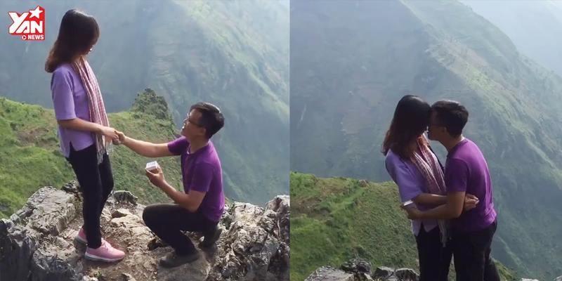 Thót tim với màn cầu hôn trên đỉnh Mã Pí Lèng độ cao 2000 mét