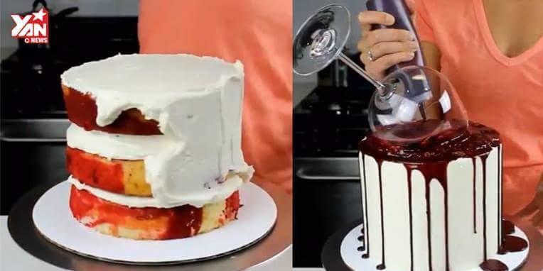 Cách trang trí kiểu bánh kem đổ máu cho Halloween sắp tới