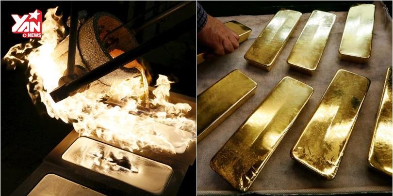 Bên trong nhà máy bí mật chuyên đúc vàng thỏi ở Nga