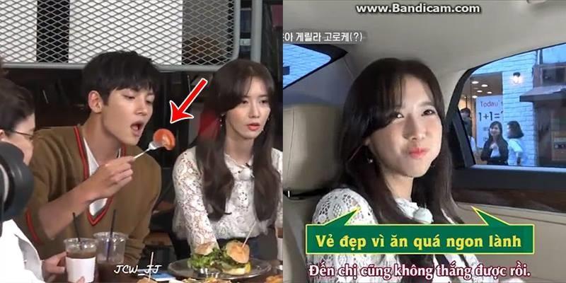 Ji Chang Wook và Yoona mất sạch hình tượng vì miếng ăn