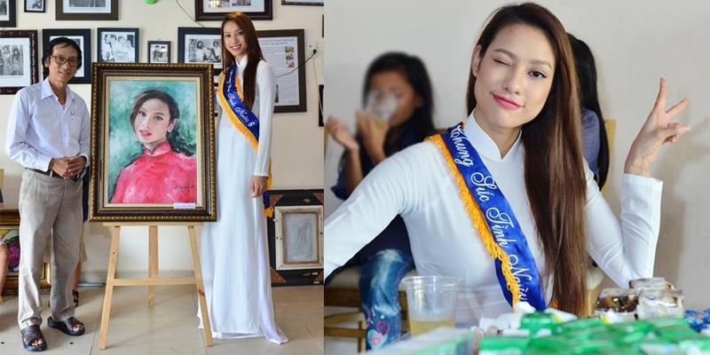 yan.vn - tin sao, ngôi sao - Lilly Nguyễn nền nã với áo dài trắng đi trao quà cho trẻ em mồ côi