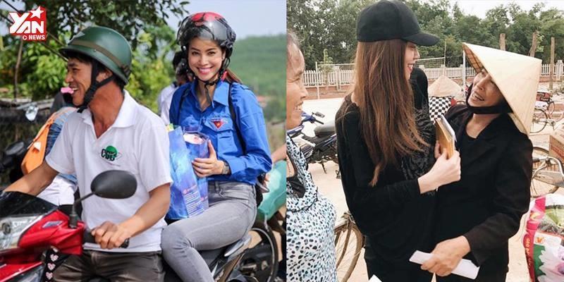 Trang phục giản dị, sao Việt tạo nhiều cảm tình khi đi từ thiện