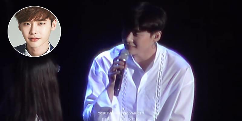 """Fan """"chết đứ đừ"""" khi nghe Lee Jong Suk hát tặng ngọt lịm"""