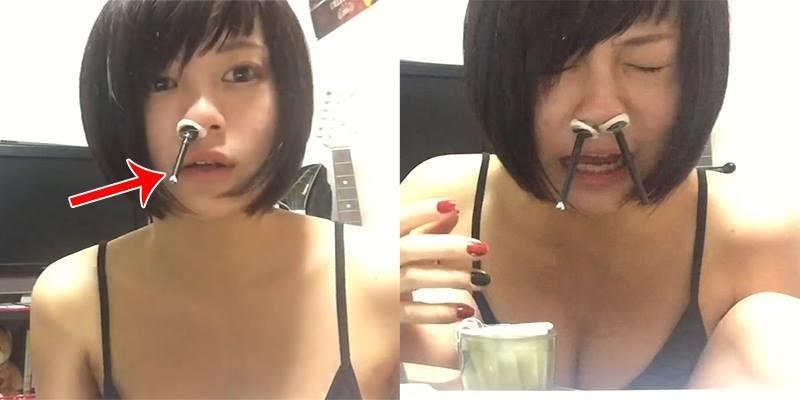 Rùng mình với dụng cụ vệ sinh mũi lạ lùng của gái Nhật