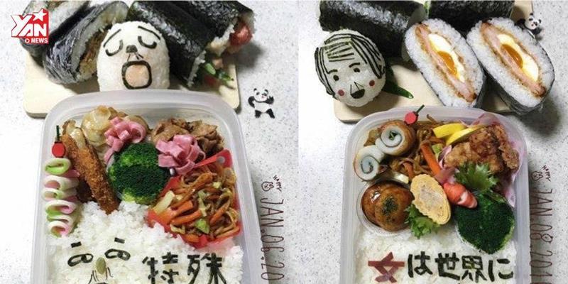 Bà mẹ Nhật Bản viết thư cho con lên hộp cơm Bento