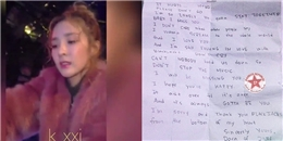 yan.vn - tin sao, ngôi sao - Dara đầm đìa nước mắt trao fan tâm thư sau khi 2NE1 tan rã