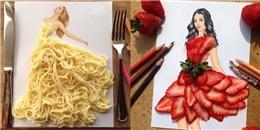 'Mê mẩn' ngắm nhìn những chiếc váy tuyệt đẹp được làm từ đồ ăn