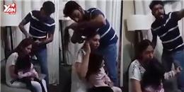 Người đàn ông cắt tóc vợ mình ngay trước mặt con gái gây tranh cãi
