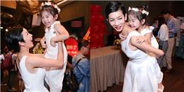 Xuân Lan mặc đồ ton-sur-ton với con gái, 'quậy tưng' thảm đỏ
