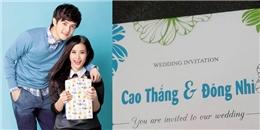 yan.vn - tin sao, ngôi sao - Fans bấn loạn trước tấm thiệp cưới của Đông Nhi - Ông Cao Thắng