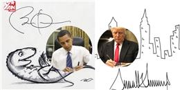 So sánh chữ ký của Donald Trump và Barack Obama
