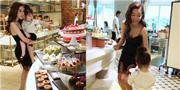 yan.vn - tin sao, ngôi sao - Elly Trần diện váy ngắn nóng bỏng đi ăn sáng cùng hai thiên thần nhí