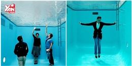 Cận cảnh bể bơi 'ảo giác' như có một thế giới khác bên dưới