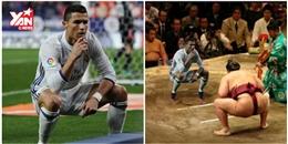 Ronaldo lại bị chế ảnh sau khi ăn mừng kiểu 'ngồi bồn cầu'