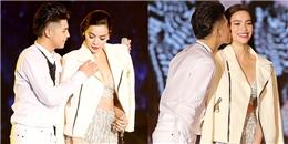 yan.vn - tin sao, ngôi sao - Noo Phước Thịnh ga-lăng khoác áo và hôn nhẹ Hồ Ngọc Hà trên sân khấu
