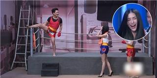 Trường Giang cầu hôn và ép Mai Hồ cover  Anh cứ đi đi  trên sân khấu
