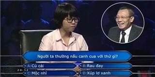 Cô gái chơi  Ai là triệu phú  liên tục  làm khó  MC Lại Văn Sâm