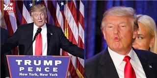 Khoảnh khắc Donald Trump xuất hiện ngay sau khi đắc cử