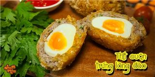 [Nhòm Nhèm]  Chết thèm  với món thịt cuộn trứng lòng đào cực dễ làm
