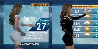 Đường cong chữ S hoàn hảo của MC thời tiết sexy nhất thế giới