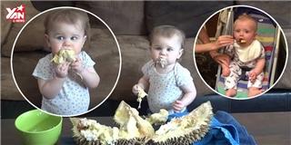 Chết cười khi các em bé phương Tây lần đầu ăn thử sầu riêng