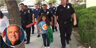 Câu chuyện cảm động của cô bé được đoàn cảnh sát hộ tống đi học