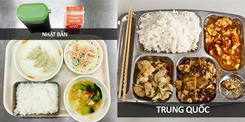 Học sinh các nước trên thế giới hào hứng chia sẻ ảnh bữa trưa