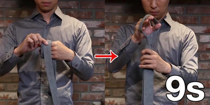Mẹo thắt cà vạt trong vòng chưa đầy 10 giây cho phái mạnh