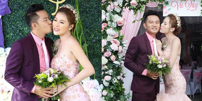 yan.vn - tin sao, ngôi sao - Diễn viên Thiên Bảo ngọt ngào ôm hôn bà xã trong ngày cưới