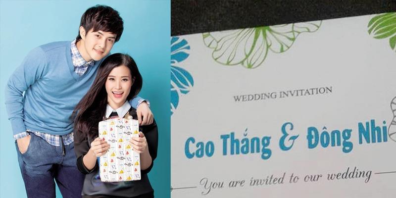 Fans bấn loạn trước tấm thiệp cưới của Đông Nhi - Ông Cao Thắng