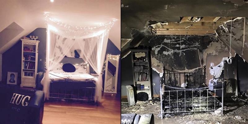 Phòng ngủ cháy ra tro vì bất cẩn cắm sạc smartphone qua đêm