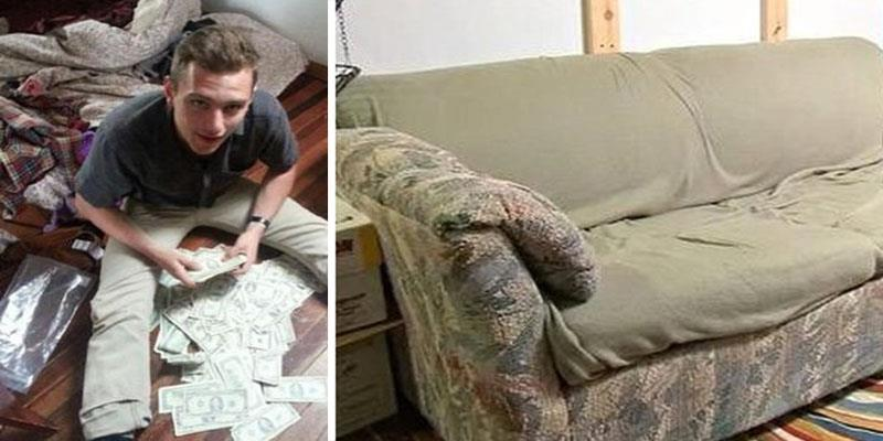 Bất ngờ tìm thấy gần 1 tỉ đồng trong chiếc ghế sofa cũ