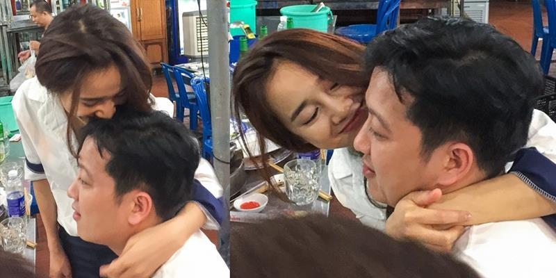 yan.vn - tin sao, ngôi sao - Nhã Phương tình tứ ôm hôn Trường Giang trong quán ăn sau đêm diễn