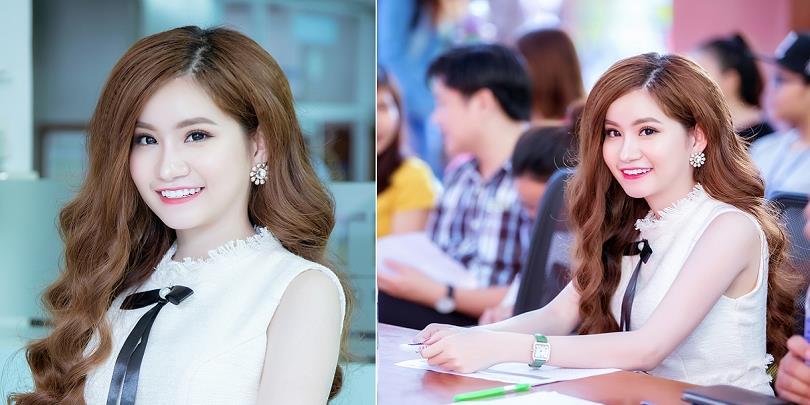 yan.vn - tin sao, ngôi sao - Á hậu Ngọc Huyền rạng ngời trên ghế giám khảo tại cuộc thi sắc đẹp