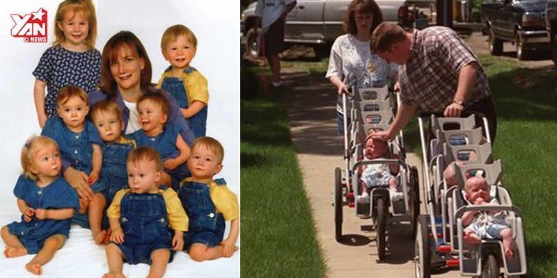 Câu chuyện về gia đình sinh 7 đầu tiên trên thế giới