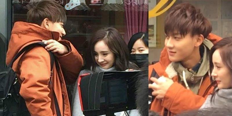 Sau scandal, Dương Mịch tình cảm bên Hoàng Tử Thao trên phim trường