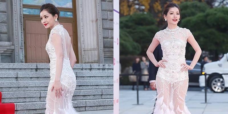 Chi Pu đẹp chẳng kém sao Hàn trên thảm đỏ Asia Artist Awards 2016