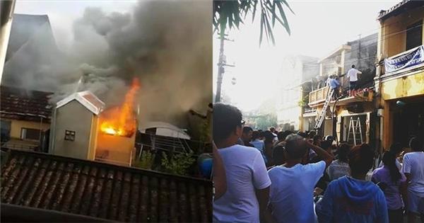Cháy nhà cổ ở Hội An, thiêu rụi nhiều tài sản