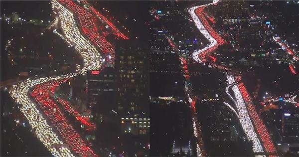 Cảnh tượng kẹt xe kinh hoàng tại Mỹ trong ngày Lễ tạ ơn