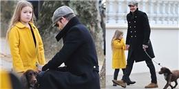 Harper phụng phịu 'khó chịu' vẫn cực đáng yêu đi dạo cùng bố Beck