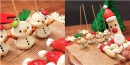 Tự làm ông già tuyết đón giáng sinh từ trái cây cực đơn giản