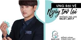 Ưng Đại Vệ tặng quà trực tiếp cho fans trên Bigo Live