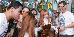 Sĩ Thanh suýt chạm môifan trong tiệc mừng sinh nhật