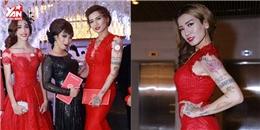 """""""Cô nàng"""" BB Trần nóng bỏng suýt ngã trong đám cưới Trấn Thành"""