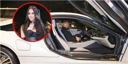 Diệp Lâm Anh được bạn trai lái siêu xe đến dự ra mắt phim
